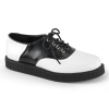 CREEPER-606 	White-Black Leather